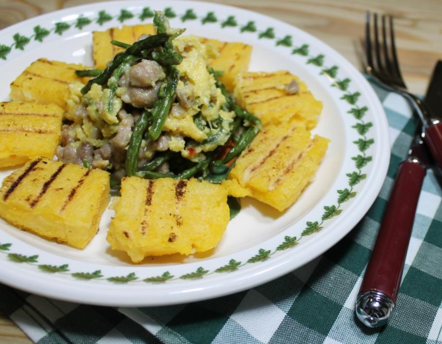 frittata asparagi e salsiccia