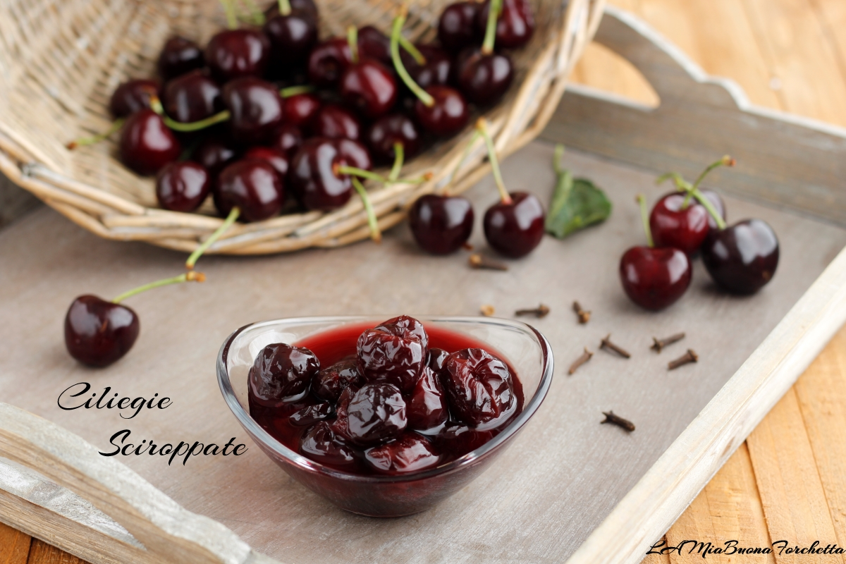 ciliegie sciroppate aromatizzate