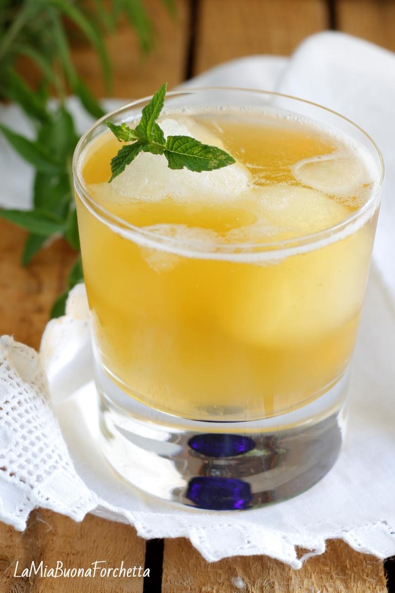 tè verde con granita di limone
