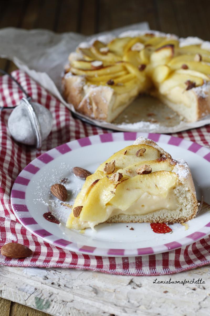 crostata crema e mele