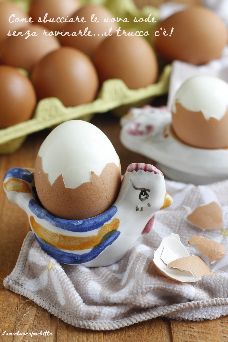 come sbucciare le uova sode
