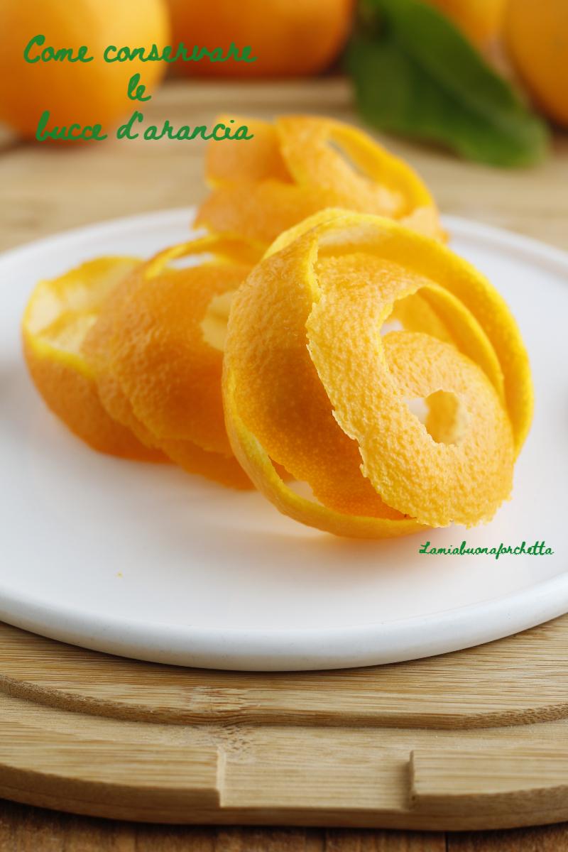 conservare le bucce di arance e limoni