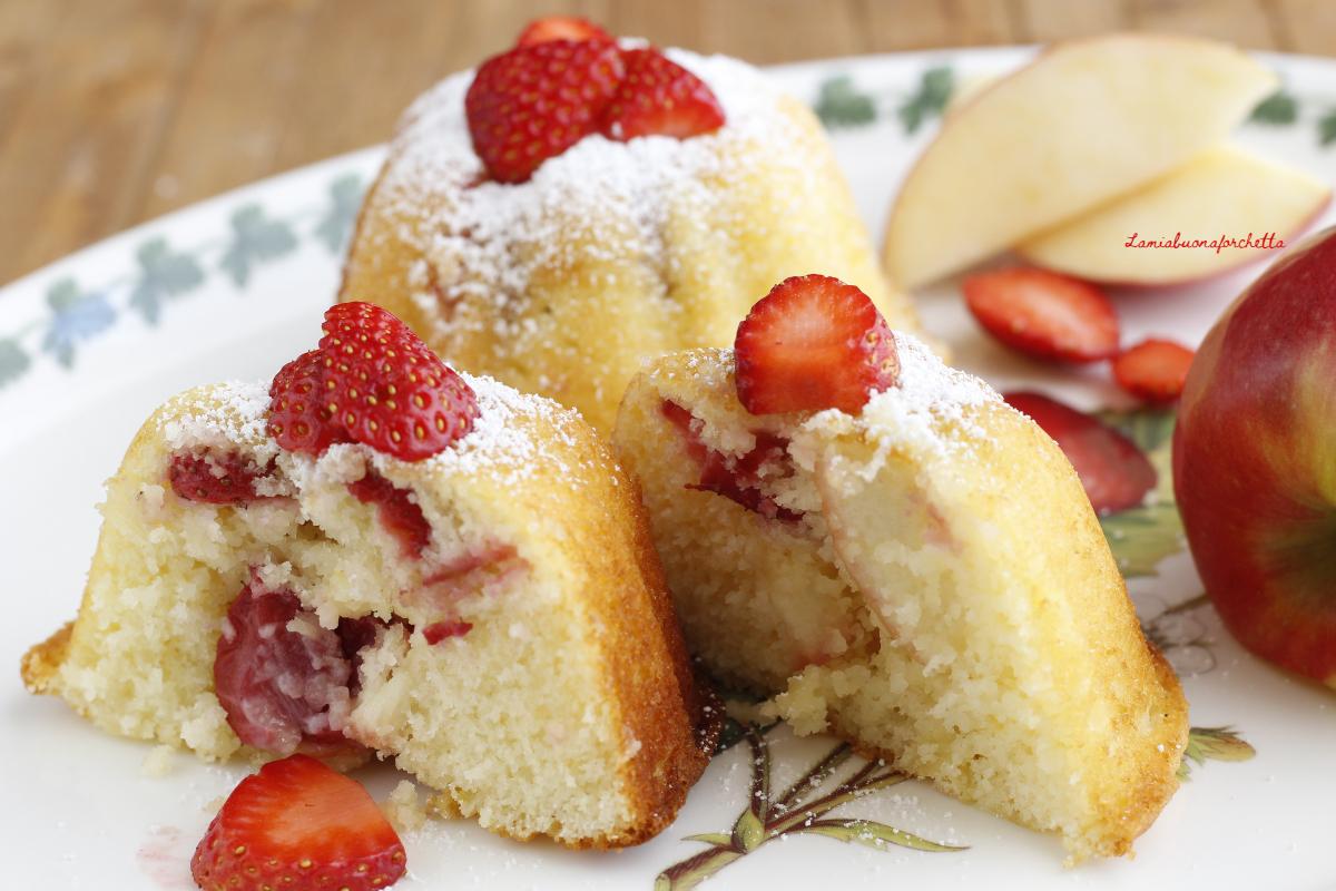 muffin fragole e mele