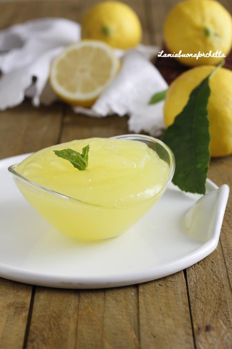 crema al limone all'acqua