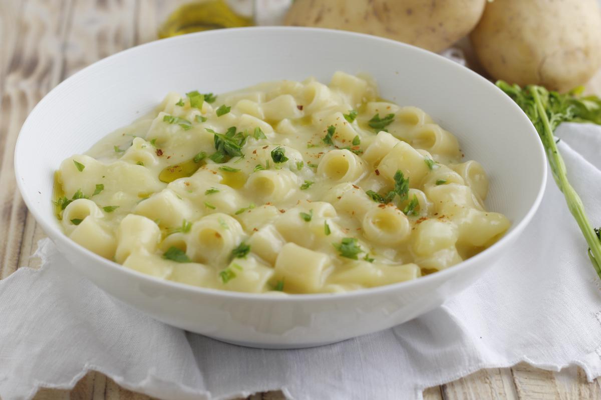 pasta con crema di patate